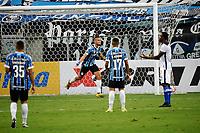 PORTO ALEGRE, (RS), 19.03.2021 - GREMIO - AIMORE – O jogador Ricardinho, da equipe do Grêmio, comemora o seu gol, na partida entre Grêmio e Aimoré, válida pela 5ªrodada do Campeonato Gaúcho 2021, no estádio Arena do Grêmio, em Porto Alegre, nesta sexta-feira (19).