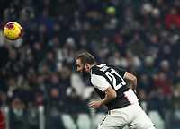 Calcio, Coppa Italia round 8 : Juventus - AS Roma, Turin, Allianz Stadium, January 22, 2020.<br /> Juventus' Gonzalo Higuain in action during the Italian Cup football match between Juventus and Roma at the Allianz stadium in Turin, January 22, 2020.<br /> UPDATE IMAGES PRESS/Isabella Bonotto