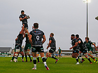 4th June 2021; Galway Sportsgrounds, Galway, Connacht, Ireland; Rainbow Cup Rugby, Connacht versus Ospreys; Rhys Davies wins a line out for Ospreys