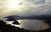Blick vom Igeldoberg auf San Sebastian (Donostia), Baskenland (Euskadi), Spanien