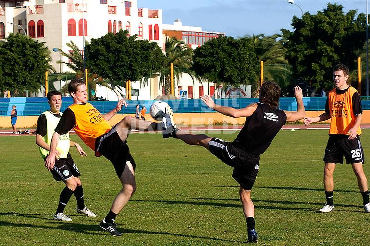 trainingskamp fc groningen gran canaria 08-01-2007 eredivisie seizoen 2006-2007   hoogstandje met floren en sjvedik