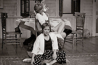 "Loelia (Kate Buffery) and Grace (Zoe Wanamaker)  in  ""Wrecked Eggs"" written and directed by David Hare, designed by John Gunter, National Theatre, London, 1986."