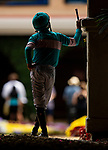JULY 25, 2021: Mike Smith waits to enter the paddock at Del Mar Fairgrounds in Del Mar, California on July 25, 2021. Evers/Eclipse Sportswire/CSM