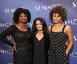 """LaChanze, Storm Lever and Ariana DeBose attend the Meet & Greet for """"Summer: The Donna Summer Musical"""" on March 8, 2018 at the New 42nd Street Studios,  in New York City."""