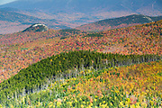 Scenic view from the Nubble (Haystack Mountain) in Bethlehem, New Hampshire USA during the autumn months.
