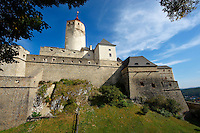 The medieval Forchtenstein Castle,  Forchtenstein, Burgenland, Austria