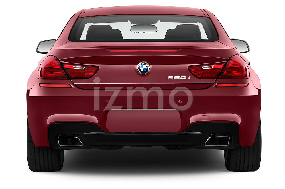 Straight rear view of a 2014 BMW 6 Series Coupe