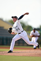 Lakeland Flying Tigers pitcher Kenton St. John (44) delivers a pitch during a game against the Palm Beach Cardinals on April 13, 2015 at Joker Marchant Stadium in Lakeland, Florida.  Palm Beach defeated Lakeland 4-0.  (Mike Janes/Four Seam Images)