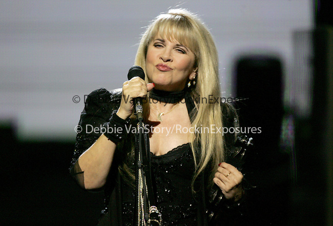 """Songstress Stevie Nicks performs live for a four night production called """"Dreams"""" exclusively at The Colosseum in Caesars Palace in Las Vegas,Nevada on May 11,2005.(Pictured:Stevie Nicks). Copyright 2005 by RockinExposures"""