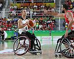 Nik Goncin, Rio 2016 - Wheelchair Basketball // Basketball en fauteuil roulant.<br /> The Canadian men's wheelchair basketball team face Turkey in their final round of preliminary play // L'équipe canadienne masculine de basketball en fauteuil roulant affronte la Turquie lors de sa dernière ronde de match préliminaire. 12/09/2016.
