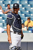 Feb 23, 2010; Tampa, FL, USA; New York Yankees  catcher Jorge Posada (20) during  team workout at George M. Steinbrenner Field. Mandatory Credit: Tomasso De Rosa
