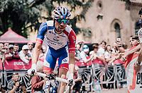 Thibaut Pinot (FRA/Groupama-FDJ)  to the start<br /> <br /> stage 13 Ferrara - Nervesa della Battaglia (180km)<br /> 101th Giro d'Italia 2018