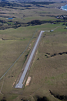 aerial photograph of Hearst San Simeon Airstrip (CN66), San Simeon, San Luis Obispo, County, California