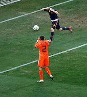Iniesta Celebrates goal, Soccer, Football - 2010 FIFA World Cup - Johannesburg, South Africa, Sunday, July, 11, 2010. Final match, Netherlands vs Spain, Soccer City Stadium (credit & photo: Pedja Milosavljevic / +381 64 1260 959 / thepedja@gmail.com / STARSPORT )