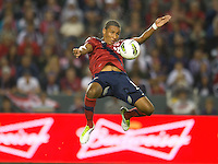 Carson, Ca-Friday Sept. 2, 2011: USA's  Juan Agudelo traps the ball during a 1-0 loss to Costa Rica at the Home Depot Center.