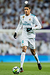 Raphael Varane of Real Madrid  in action during the La Liga 2017-18 match between Real Madrid and Girona FC at Estadio Santiago Bernabéu  on March 18 2018 in Madrid, Spain. Photo by Diego Souto / Power Sport Images