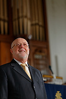 Reverend Eirian Wyn at Seion Newydd Church in the Morriston area of  Swansea, Wales, UK. Thursday 20 September 2018