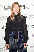"""Julia Jentsch <br /> at the London Film Festival 2016 premiere of """"Queen of Katwe"""" at the Odeon Leicester Square, London.<br /> <br /> <br /> ©Ash Knotek  D3168  09/10/2016"""