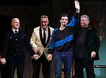 """Richie Jackson, Moises Kaufman, Michael Urie and Harvey Fierstein during the Broadway Opening Night Curtain Call for """"Torch Song"""" at the Hayes Theater on November 1, 2018 in New York City."""