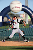 Kyle Lloyd (35) of the Lake Elsinore Storm pitches during a game against the Lancaster JetHawks at The Hanger on August 29, 2015 in Lancaster, California. Lancaster defeated Lake Elsinore 7-4. (Larry Goren/Four Seam Images)