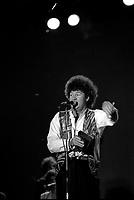 Robert Charlebois en spectacle vers 1980<br /> <br /> PHOTO :  Agence Quebec Presse