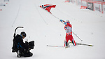 HOLMENKOLLEN, OSLO, NORWAY - March 17: Therese Johaug of Norway (NOR) wins the Ladies 30 km mass start race, free technique, at the FIS Cross Country World Cup on March 17, 2013 in Oslo, Norway. 2nd place Justyna Kowalczyk of Poland (POL) and 3rd place Yulia Tchekaleva of Russia (RUS). (Photo by Dirk Markgraf)