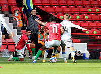 10th October 2020; Bescot Stadium, Walsall, West Midlands, England; English Football League Two, Walsall FC versus Colchester United; Colchesters Manager Steve Ball calls for a foul on his player