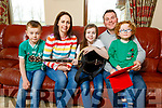 Eoghan Óg, Siobhan, Emma Rose, Owen and Fionn Galvin at their home in Finuge on Tuesday.