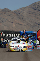 Apr 9, 2006; Las Vegas, NV, USA; NHRA Pro Stock champion Greg Anderson, driver of the Summit Racing Pontiac GTO returns to his pit area after losing in the first round of eliminations at the Summitracing.com Nationals at Las Vegas Motor Speedway in Las Vegas, NV. Mandatory Credit: Mark J. Rebilas