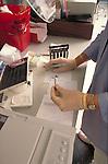 laboratory testing on samples