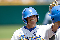 UCLA DH Blair Dunlap in Game 13 of the NCAA Division One Men's College World Series on June 26th, 2010 at Johnny Rosenblatt Stadium in Omaha, Nebraska.  (Photo by Andrew Woolley / Four Seam Images)