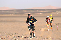 5th October 2021; Kourci Dial Zaid to Jebel El Mraier ; Christopher Gaskin (gbr) Marathon des Sables, stage 3 of  a six-day, 251 km ultramarathon, which is approximately the distance of six regular marathons. The longest single stage is 91 km long. This multiday race is held every year in southern Morocco, in the Sahara Desert.