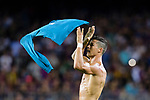 Cristiano Ronaldo of Real Madrid celebrating his score shirtless during the Supercopa de Espana Final 1st Leg match between FC Barcelona and Real Madrid at Camp Nou on August 13, 2017 in Barcelona, Spain. Photo by Marcio Rodrigo Machado / Power Sport Images