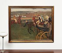 "Degas: The Race Course, Digital Print,<br /> Framed Dimensions: 47""H x 58""W x 2""D"