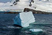 Antarctica expedition aboard the Hurtigruten FRAM ship. Ice in the Wendell Sea.