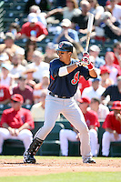 March 10,2009: Catcher Victor Martinez (41) of the Cleveland Indians at Tempe Diablo Stadium in Tempe, AZ.  Photo by: Chris Proctor/Four Seam Images