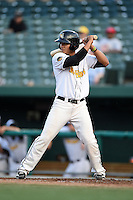 South Bend Silver Hawks third baseman Fidel Pena (3) at bat during a game against the Dayton Dragons on August 20, 2014 at Four Winds Field in South Bend, Indiana.  Dayton defeated South Bend 5-3.  (Mike Janes/Four Seam Images)