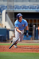 Tampa Bay Rays Taylor Walls (9) follows through on a swing during a Florida Instructional League game against the Baltimore Orioles on October 1, 2018 at the Charlotte Sports Park in Port Charlotte, Florida.  (Mike Janes/Four Seam Images)