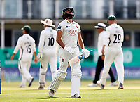 Frustration for Jack Leaning of Kent after being dismissed for 97 during Kent CCC vs Worcestershire CCC, LV Insurance County Championship Division 3 Cricket at The Spitfire Ground on 6th September 2021