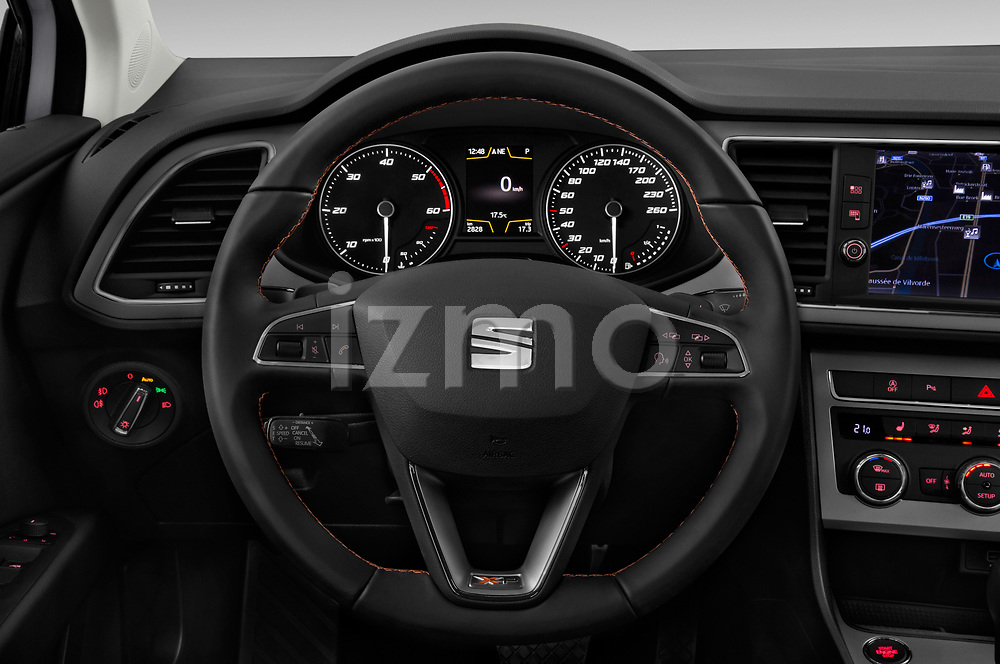 Car pictures of steering wheel view of a 2017 Seat Leon Xperience Base 5 Door Wagon