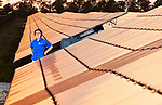 FAMU-FSU College of Engineering professor Hui Li, Ph.D. in 100 acre solar farm west of the Tallahassee International Airport at the in Tallahassee, Florida.