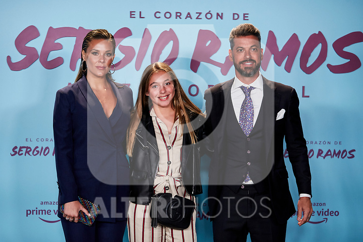 "Rene Ramos and Vania Millan attends to ""El Corazon De Sergio Ramos"" premiere at Reina Sofia Museum in Madrid, Spain. September 10, 2019. (ALTERPHOTOS/A. Perez Meca)"