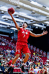Lam Hoi Kwong #7 of SCAA Men's Basketball Team attempts to score during the Hong Kong Basketball League game between Tycoon and SCAA at Southorn Stadium on May 23, 2018 in Hong Kong. Photo by Yu Chun Christopher Wong / Power Sport Images