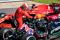 LECLERC Charles (mco), Scuderia Ferrari SF21, HAMILTON Lewis (gbr), Mercedes AMG F1 GP W12 E Performance, portrait during the Formula 1 Pirelli British Grand Prix 2021, 10th round of the 2021 FIA Formula One World Championship from July 16 to 18, 2021 on the Silverstone Circuit, in Silverstone, United Kingdom - <br /> Formula 1 GP Great Britain Silverstone 18/07/2021<br /> Photo DPPI/Panoramic/Insidefoto <br /> ITALY ONLY