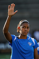 Candace Chapman (9) of the Boston Breakers. Sky Blue FC defeated the Boston Breakers 2-1 during a WPS regular season match at Harvard Stadium in Boston, MA, on July 12, 2009.
