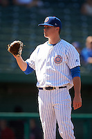 South Bend Cubs pitcher Justin Steele (21) during the second game of a doubleheader against the Peoria Chiefs on July 25, 2016 at Four Winds Field in South Bend, Indiana.  South Bend defeated Peoria 9-2.  (Mike Janes/Four Seam Images)