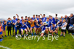 The St Marys Team celebrate the South Kerry Championship final win over Piarsaigh na Dromoda on Sunday in Waterville.