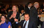 SILVIO BERLUSCONI CON BEATRICE LORENZIN<br /> CAMPAGNA ELETTORALE DI ALFREDO ANTONIOZZI POPOLO DELLE LIBERTA' HOTEL ERGIFE ROMA 2008