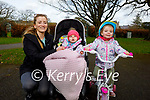 Enjoying a stroll in the Tralee town park on Monday, l to r: Nicola Allen, Indy and Hope Warren.