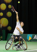 Rotterdam, The Netherlands, Februari 10, 2016,  ABNAMROWTT, Takashi Sanada (JPN)<br /> Photo: Tennisimages/Henk Koster